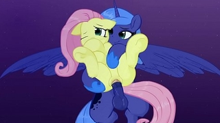 MLP: Nobles Luna Fucks Fluttershy In Will not hear of Dream