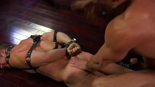 Tiedup stud gets rimmed by dominant cube
