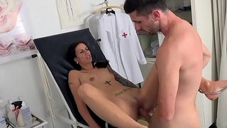 Czech babe Ali Bordeaux went near dirty gyno doctor. The horny doctor can not wait near start the dirty vagina exam.