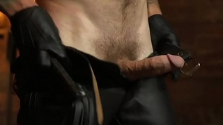 Sub stud flogged and self-effacing by maledom