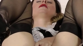 Older british maid rubs