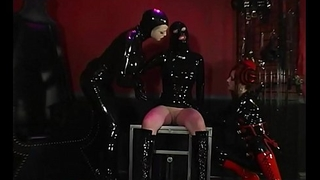 Latex Babe RubberDoll Helps Rubberella Belabor Latex Slut!