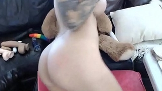 Tattooed brunette deserve some anal