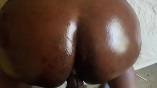 (Me) Jamaican BBW taking big dick creamy wet pussy