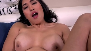 Mia Li shows elsewhere her bushy pussy in some upskirt action outside!
