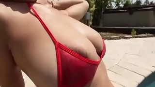Hot Latina Has A Sweet Pair Of Huge Jiggly Melons
