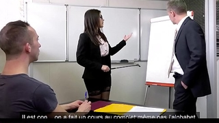 PORNO ACADEMIE - Double penetration sex be beneficial to naughty teacher Valentina Nappi