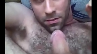 Hairy gay blade cums in his mouth