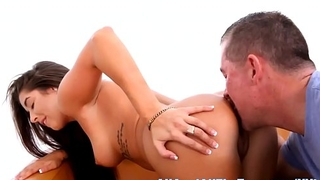 Allie B Gets Tan Ass Eaten at AllAnal!