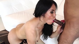 Latina tgirl sucking before doggystyle sex
