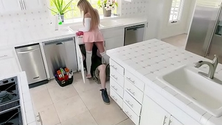 ExxxtraSmall - Horny Babe Gets DP from Carpenters