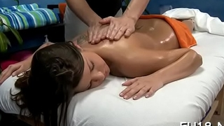 Wacko doxy takes cock from her masseur
