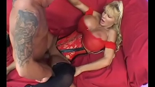 Mature blonde beauty Misty Knight  takes a hot load more than her perfect pair after sex