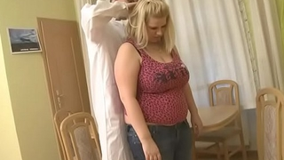 He cures boastfully boobs blonde with his big cock