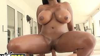 BANGBROS - Ebony Pornstar Maserati Has A Glorious Pair Of Big Tits