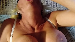GREATEST UPSIDE DOWN BLOWJOB OF ALL TIME. BLONDE BANDItt PERFECT HUGE TITS  BIG HARD NIPPLES  SHE SUCKS A COCK UPSIDE DOWN UNTIL SHE GETS SO WET THEN IS TURNED OVER .SEE PART 2more orgasms @manyvids.com grilling blonde banditt