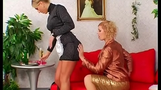 Hawt maid gets her a-hole spanked here female domination fetish