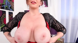 World Famous Milf Sara Jay Is All Red Space fully Dildo Banging!