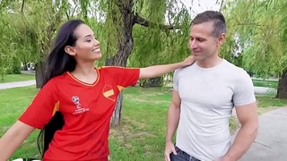 Hot Big Ass Spanish Latina Andreina Deluxe Picked Up By World Cup Fans And Fucked For Cash