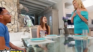 BANGBROS - Riley Reid Shares Boyfriend'_s Big Black Dick With Step Mom Cherie Deville