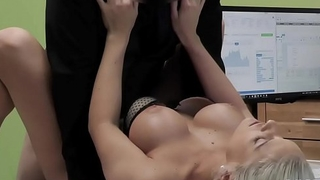 LOAN4K. Gorgeous blonde with unrestricted body offers agent sex for cash
