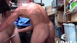 HIPSTER TEEN GETS CAUGHT BETWEEN TWO COCKS- LifterX.com
