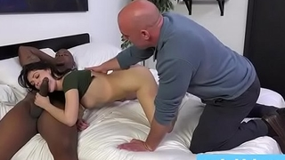 loser hubby watches his hot wife get fucked by a black man
