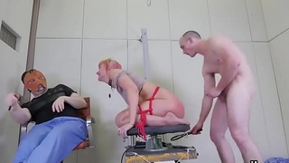 Kinky kitten was brought in ass hole asylum for awkward treatment