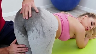 TeamSkeet - Hot Teen Gets Obese Pussy Stretched By Trainer