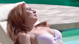 GingerPatch - Cute Ginger Teen Gets Lip Poolside